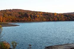 After Glow on an Autumn Lake.  Destination Lake Scranton in Scranton,Pennsylvania