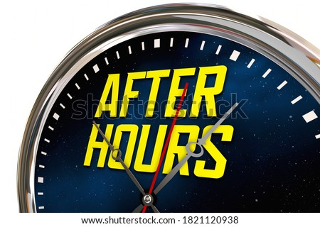 After Hours Clock Late Night Overtime Hands Ticking 3d Illustration Foto stock ©