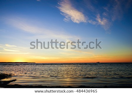 after sunset at the Baltic sea #484436965