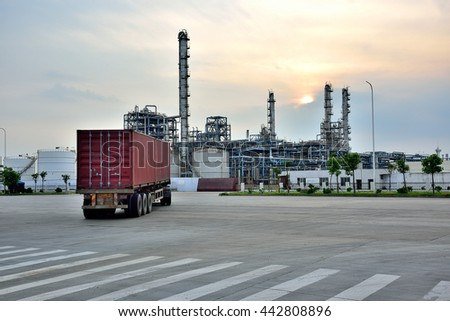 After the truck's oil refinery #442808896