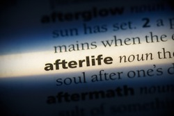 afterlife word in a dictionary. afterlife concept, definition.