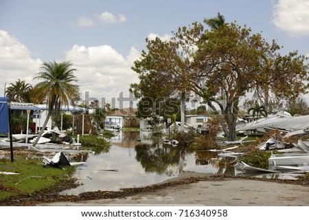 Aftermath of Hurricane Irma Naples FL, USA