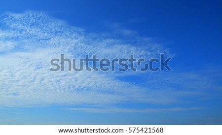 afternoon blue sky and white cloud on nice day #575421568
