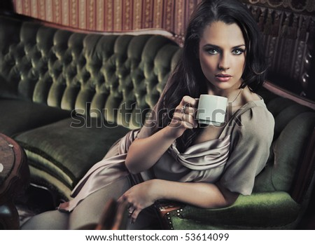 Afternoon coofee in a stylish interior