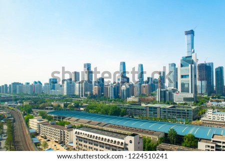 Afternoon of the modern city Beijing International Trade CBD Central Business District #1224510241