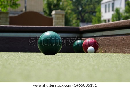 Afternoon on the bocce court                 #1465035191
