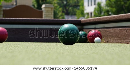 Afternoon on the bocce court                 #1465035194