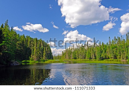 Afternoon shadows on Rib Lake in the Boundary Waters