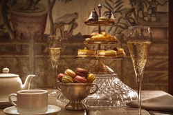afternoon tea in the hotel lobby
