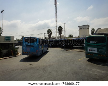AFULA, ISRAEL - SEPTEMBER 5 2017: Streets and buildings of Afula town in Israel. Middle East #748660177