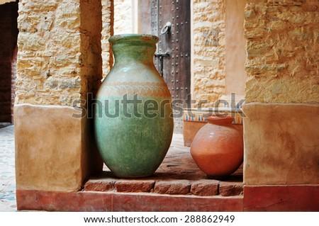 agadir city morocco medina landmark arab ceramic vase