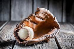 Age Baseball glove and ball