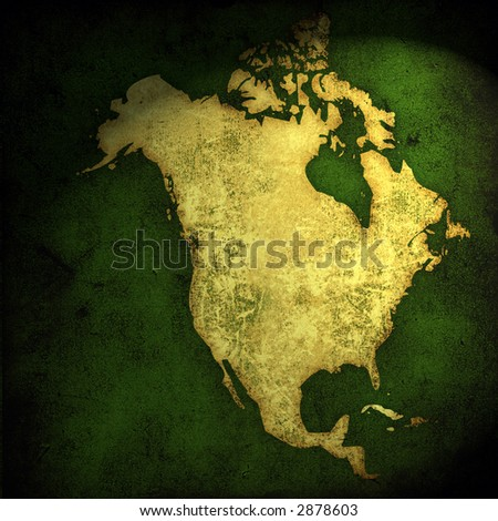 aged America map-vintage artwork - stock photo