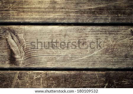 Aged and scratched wooden wallpaper.