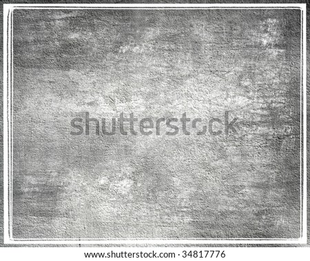 Aged cement wall with border