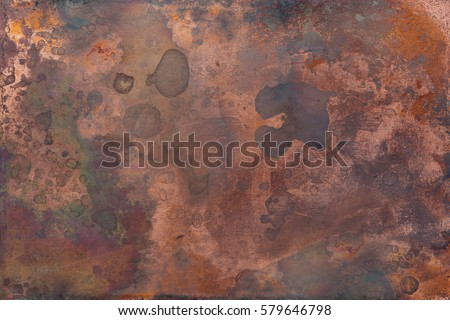 Shutterstock Aged copper plate texture, old worn metal background.