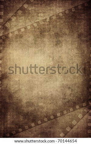 aged cross film background with space for your design