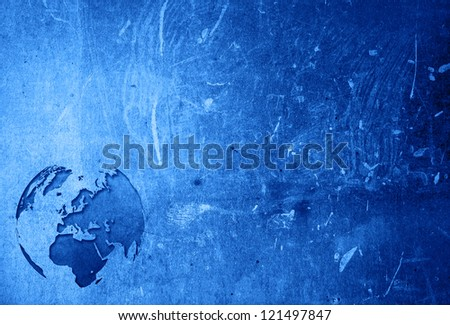 aged Europe map vintage artwork for your design - stock photo