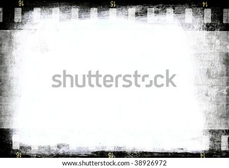 Film Emulsion Texture Film Strip on Wood Texture