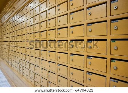 aged mailboxes