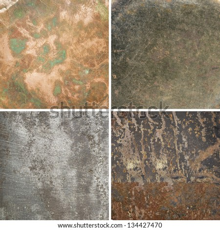 Aged metal textures.