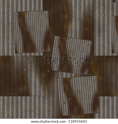 aged metal wall background
