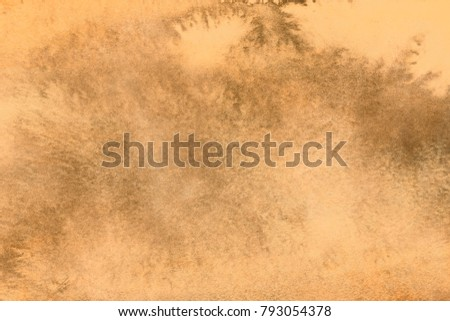 Aged old style vintage background. Old photo texture illustration stylization in sepia colors with blots, stains and scratches #793054378