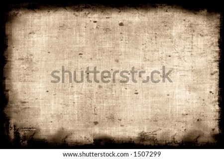 Aged paper background - makes a great photoshop alpha channel/layer mask. - stock photo