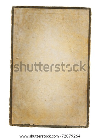 Aged paper isolated on white.