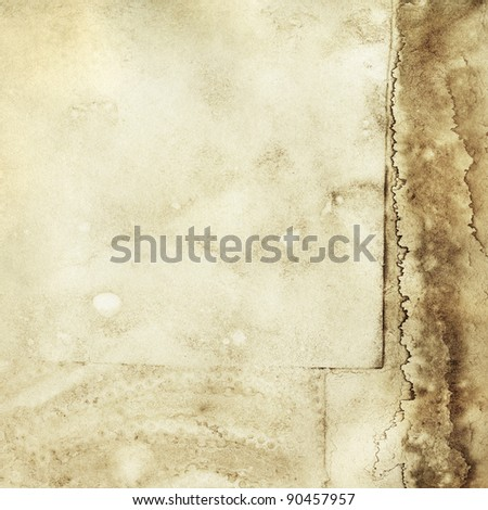 Aged paper texture, grunge background - stock photo