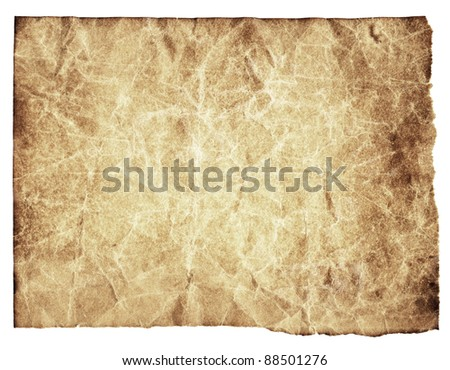 Aged paper texture with rough edges
