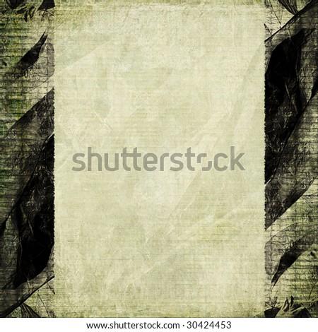 aged paper with grunge black frame