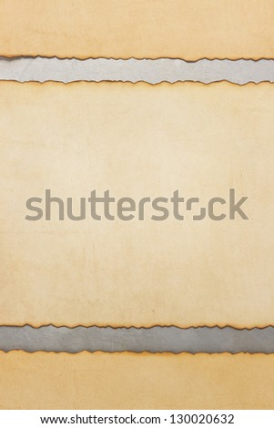 aged parchment paper on metal background