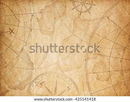 aged pirates treasure map...