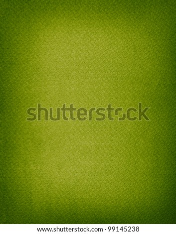 Aged rough big size green paper background with empty space and dark borders