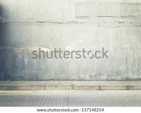Aged street wall background texture