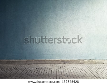 aged street wall background ...
