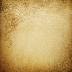 Aged vintage background with floral ornament elements. See this elements in vector in my portfolio.