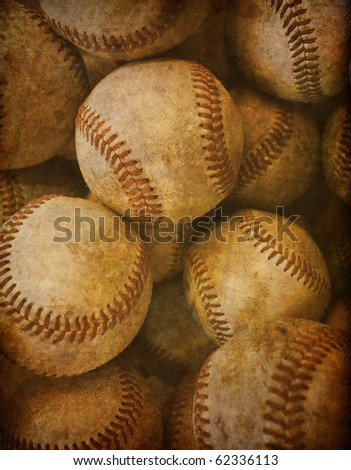 Aged Vintage baseball background