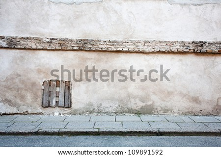 Aged weathered street wall background
