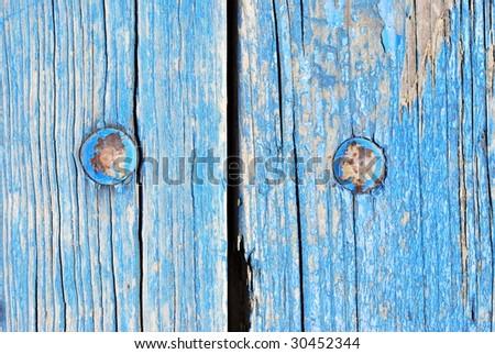 Aged Wood Panel - stock photo