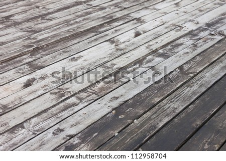 Aged wooden terrace floor background