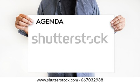 Agenda Activity Information Calendar Events and Meeting Appointment Stock photo ©