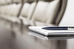 agenda concept in meeting room