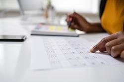 Agenda Meeting Plan Schedule In Personal Organizer