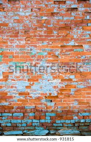 Aging distressed brick wall 5