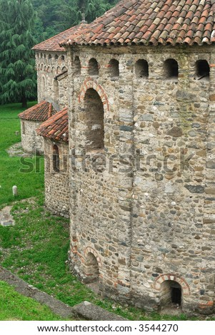 Agliate (Brianza, Lombardy, Italy) - The ancient church of San Pietro (X-XI century)