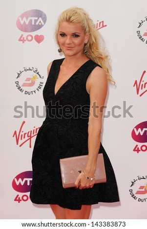 Agnieszka Radwanska arriving for the WTA Pre-Wimbledon Party 2013 at the Kensington Roof Gardens, London. 20/06/2013