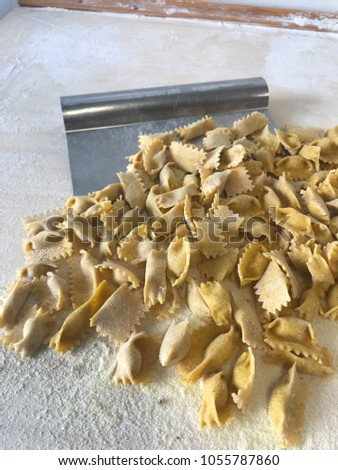 Agnolotti: home made pasta of the Langhe, Piedmont - Italy #1055787860