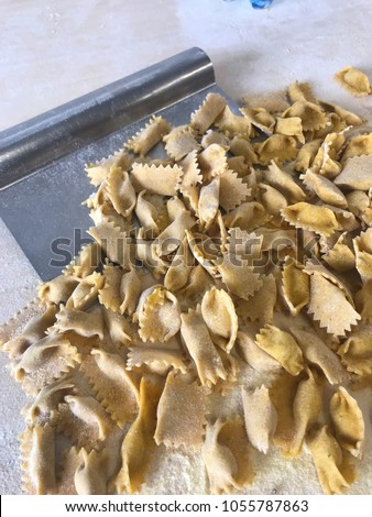 Agnolotti: home made pasta of the Langhe, Piedmont - Italy #1055787863
